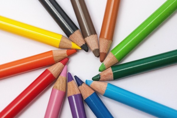 colorful-crayons-on-white-background