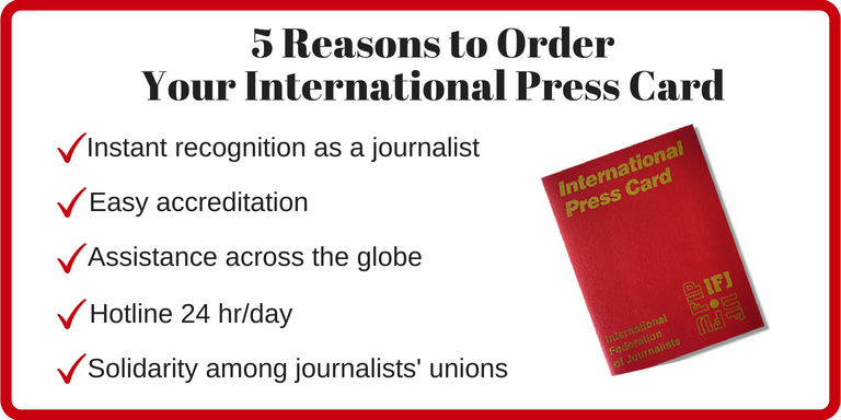 Authors - Cards International Ifj Press Guild The