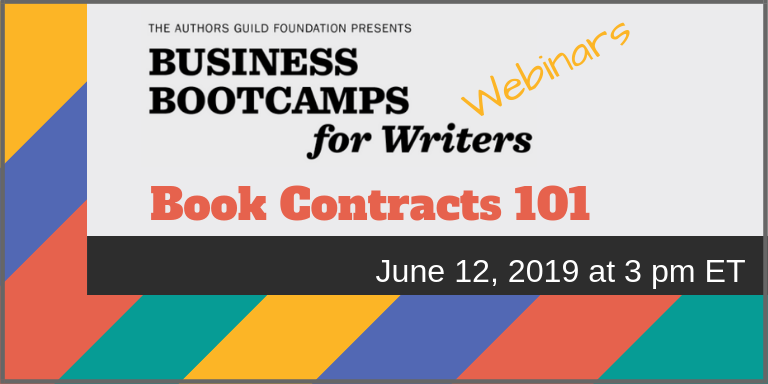 marketing webinar - book contract 101 - the authors guild