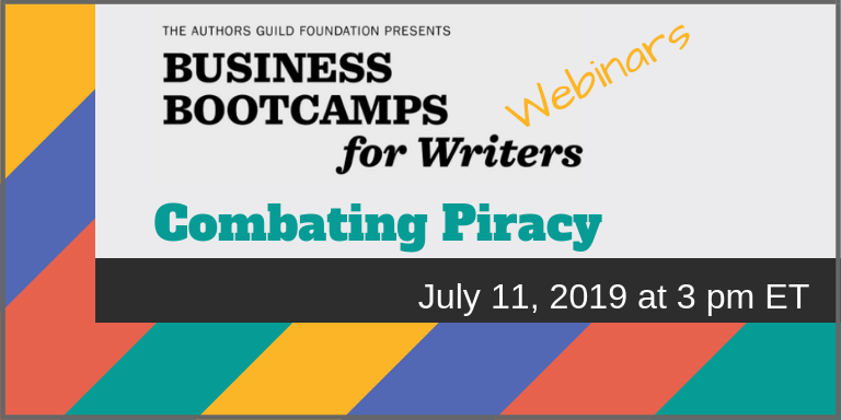 book piracy webinar - the authors guild