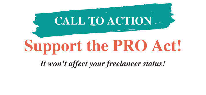 support the pro act won't affect freelancers